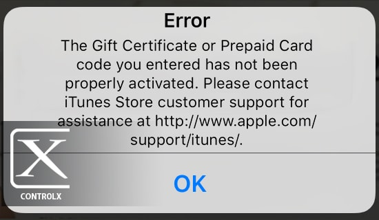 iTunes Error Already Redeemed